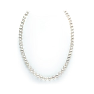 PEARL NECKLACE IN 14KT GOLD - PEARL NECKLACES - PEARL JEWELRY