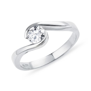 ENGAGEMENT RING WITH A 0.3CT DIAMOND IN 14KT GOLD - SOLITAIRE ENGAGEMENT RINGS - ENGAGEMENT RINGS