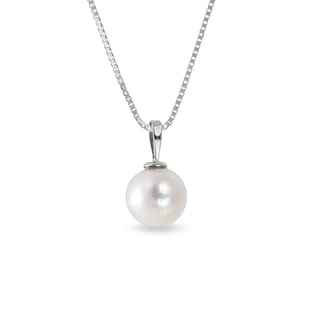 GOLD PENDANT WITH AKOYA PEARL - PEARL PENDANTS - PEARL JEWELLERY