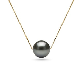 TAHITIAN PEARL NECKLACE IN 14KT GOLD - PEARL PENDANTS - PEARL JEWELRY