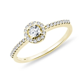 DIAMOND ENGAGEMENT RING IN YELLOW GOLD - ENGAGEMENT DIAMOND RINGS - ENGAGEMENT RINGS