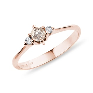 DIAMOND RING ROSE GOLD - FANCY DIAMOND ENGAGEMENT RINGS - ENGAGEMENT RINGS