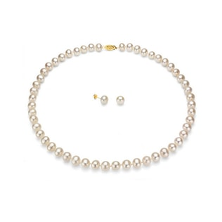 PEARL NECKLACE AND EARRINGS SET - PEARL SETS - PEARL JEWELLERY