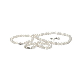 PEARL SET IN 14KT GOLD - PEARL SETS - PEARL JEWELLERY