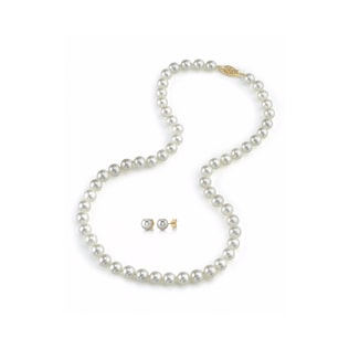AKOYA PEARL SET IN 14KT GOLD - PEARL SETS - PEARL JEWELLERY