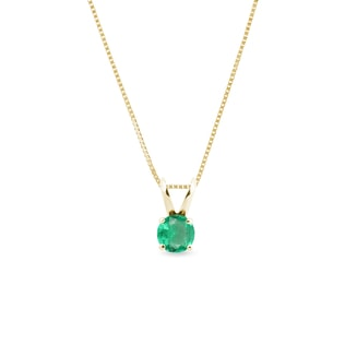 EMERALD PENDANT IN GOLD - YELLOW GOLD PENDANTS - PENDANTS