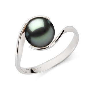 GOLD RING WITH A TAHITIAN PEARL - PEARL RINGS - PEARL JEWELLERY