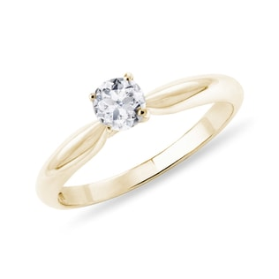 ENGAGEMENT RING MADE OF YELLOW GOLD - SOLITAIRE ENGAGEMENT RINGS - ENGAGEMENT RINGS