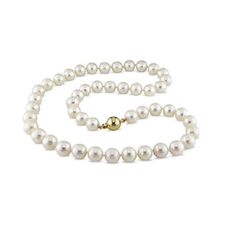 WHITE PEARL NECKLACE - PEARL NECKLACES - PEARL JEWELRY