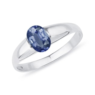 GOLD RING WITH SAPPHIRE - FINE JEWELRY