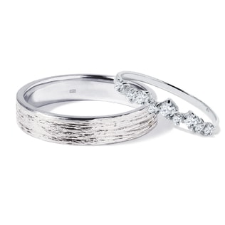 DIAMOND WEDDING RINGS MADE OF WHITE GOLD - DIAMOND WEDDING RINGS - WEDDING RINGS