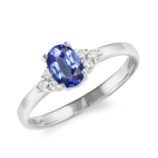 SAPPHIRE RING IN WHITE GOLD - ENGAGEMENT GEMSTONE RINGS - ENGAGEMENT RINGS