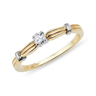 DIAMOND ENGAGEMENT RING IN 14KT YELLOW GOLD - SOLITAIRE ENGAGEMENT RINGS - ENGAGEMENT RINGS