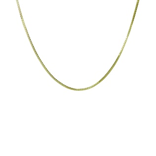 CHAIN IN 14KT YELLOW GOLD - GOLD CURB CHAINS - PENDANTS
