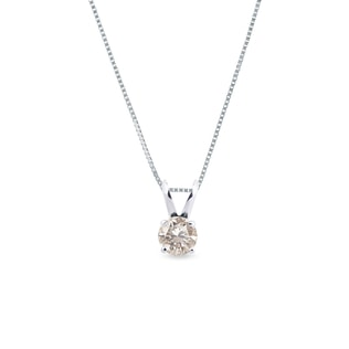 CHAMPAGNE DIAMOND PENDANT - DIAMOND PENDANTS - PENDANTS