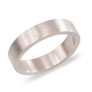 MEN'S WEDDING RING IN 14KT WHITE GOLD - RINGS FOR HIM - WEDDING RINGS
