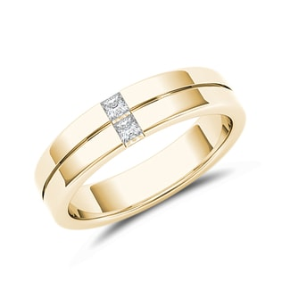 MEN'S WEDDING BAND IN 14KT YELLOW GOLD - RINGS FOR HIM - WEDDING RINGS