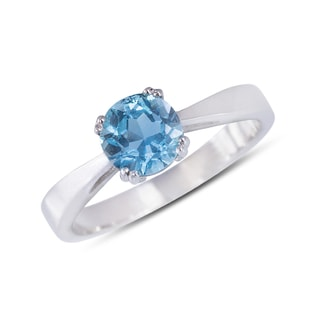 TOPAZ RING IN STERLING SILVER - TOPAZ RINGS - RINGS