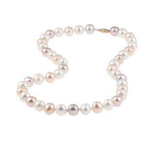 COLORED PEARL NECKLACE IN 14KT GOLD - PEARL NECKLACES - PEARL JEWELRY
