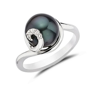 TAHITIAN PEARL RING IN 14KT GOLD - TAHITIAN PEARLS JEWELLERY - PEARL JEWELRY