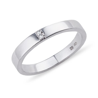 DIAMOND RING IN SILVER - RINGS FOR HER - WEDDING RINGS
