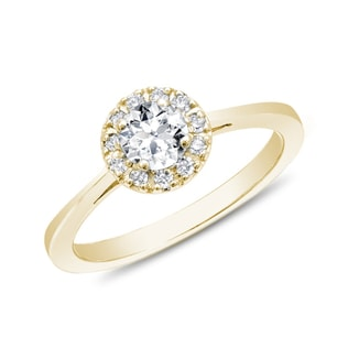 ENGAGEMENT DIAMOND RING IN YELLOW GOLD - ENGAGEMENT DIAMOND RINGS - ENGAGEMENT RINGS