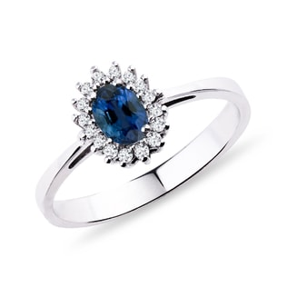 SAPPHIRE RING WITH DIAMONDS - SAPPHIRE RINGS - RINGS