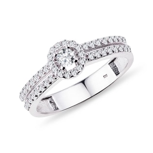 ENGAGEMENT RING IN GOLD WITH DIAMONDS - ENGAGEMENT DIAMOND RINGS - ENGAGEMENT RINGS