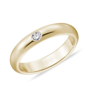 MEN'S DIAMOND WEDDING RING IN 14KT GOLD - RINGS FOR HIM - WEDDING RINGS