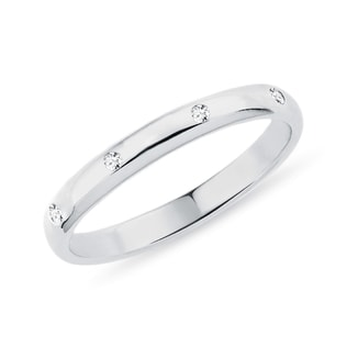 WEDDING RING WITH DIAMONDS - RINGS FOR HER - WEDDING RINGS