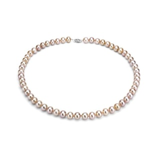 PINK PEARL NECKLACE - PEARL NECKLACES - PEARL JEWELRY