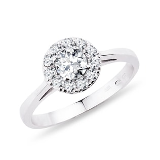DIAMOND ENGAGEMENT RING IN WHITE GOLD - ENGAGEMENT DIAMOND RINGS - ENGAGEMENT RINGS