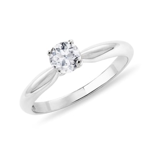 GOLD RING WITH DIAMOND - SOLITAIRE ENGAGEMENT RINGS - ENGAGEMENT RINGS