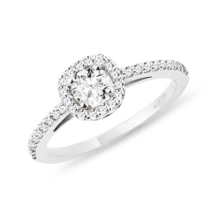 DIAMOND ENGAGEMENT RING IN WHITE GOLD - WHITE GOLD RINGS - RINGS