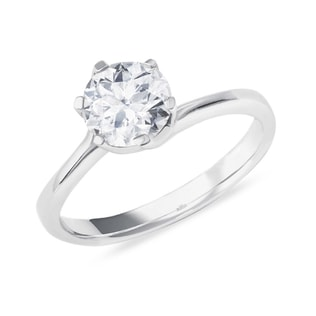 DIAMOND ENGAGEMENT RING IN 14KT GOLD - SOLITAIRE ENGAGEMENT RINGS - ENGAGEMENT RINGS