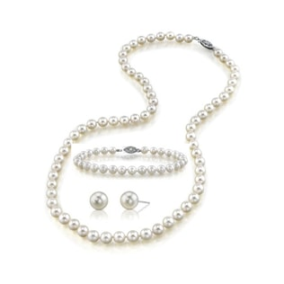 AKOYA PEARL SET IN 14KT WHITE GOLD - PEARL SETS - PEARL JEWELLERY