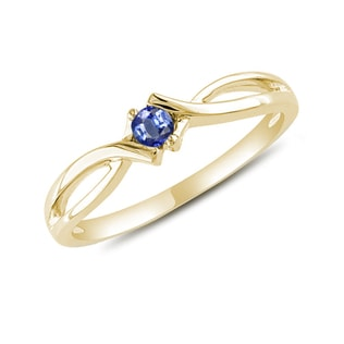 GOLD RING WITH SAPPHIRE - SAPPHIRE RINGS - RINGS