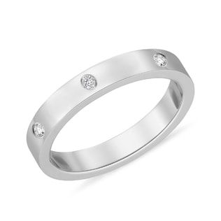 DIAMOND RING IN 14KT GOLD - WHITE GOLD FINE JEWELLERY - FINE JEWELLERY