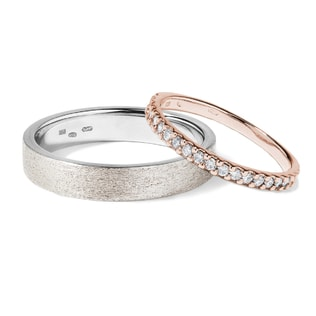WEDDING RING SET - DIAMOND WEDDING RINGS - WEDDING RINGS