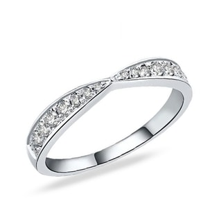 PLATINUM RING WITH DIAMOND - RINGS FOR HER - WEDDING RINGS