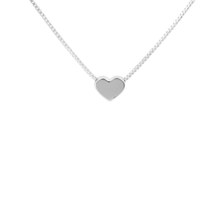 HEART NECKLACE IN 14KT WHITE GOLD - HEART PENDANTS - PENDANTS