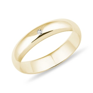 WEDDING RINGS IN YELLOW GOLD - RINGS FOR HER - WEDDING RINGS