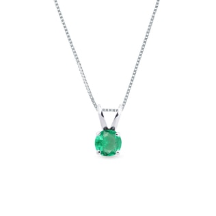 EMERALD PENDANT IN 14KT GOLD - EMERALD PENDANTS - PENDANTS