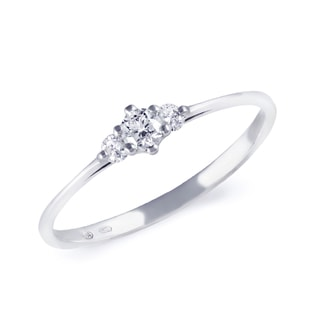 DIAMOND ENGAGEMENT RING IN 14KT SOLID GOLD - WHITE GOLD ENGAGEMENT RINGS - ENGAGEMENT RINGS