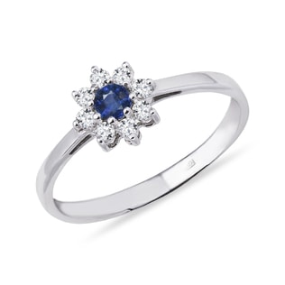 SAPPHIRE RING WITH DIAMONDS - ENGAGEMENT GEMSTONE RINGS - ENGAGEMENT RINGS