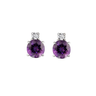 AMETHYST 14KT GOLD EARRINGS - AMETHYST EARRINGS - EARRINGS