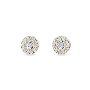 DIAMOND EARRINGS IN YELLOW GOLD - DIAMOND EARRINGS - EARRINGS