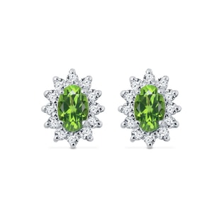 EARRINGS WITH OLIVINE - PERIDOT EARRINGS - EARRINGS
