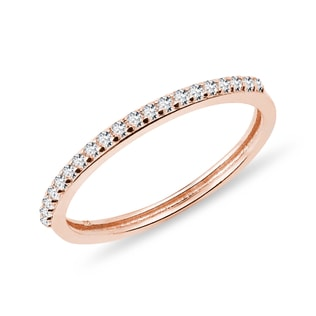 DIAMOND RING IN ROSE GOLD - RINGS FOR HER - WEDDING RINGS