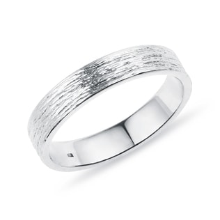 MEN'S WEDDING RING IN WHITE GOLD - RINGS FOR HIM - WEDDING RINGS